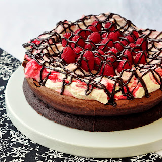 Gluten Free Chocolate Souffle Cake with Raspberry Fool