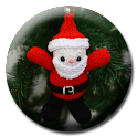 Christmas Crochet Santa icon