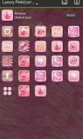 Screenshot of Luxury Pink GO Launcher Theme