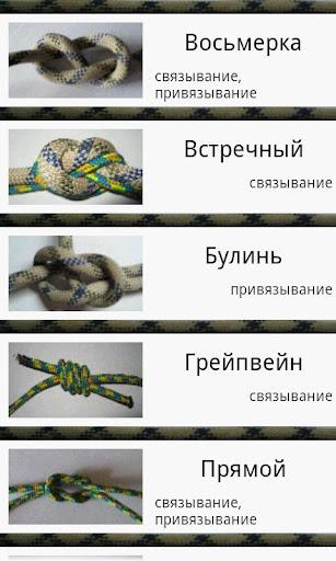 Справочник - Как вязать узлы