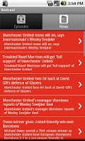 Screenshot of Manchester Utd. Redcast App