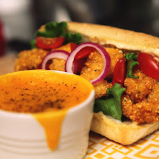 Shrimp Po' Boy with Horseradish Remoulade