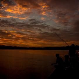 Fishing  by Karen Lee - Landscapes Sunsets & Sunrises