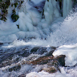 by Delores Mills - Nature Up Close Water ( rushing water, ice, snow )