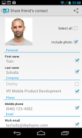 Screenshot of Share My Contact