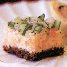 Salmon and Cucumber Pumpernickel Squares