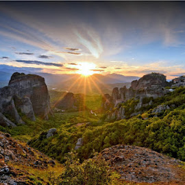 Meteora, Greece by Costas Tsirgiotis - Landscapes Sunsets & Sunrises