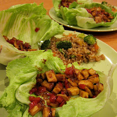 Lettuce Cups With Tofu and Cashews