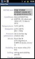 Screenshot of Metar Plan
