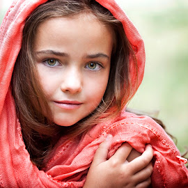 by Melissa Papaj - Babies & Children Child Portraits ( child, glamour, model, girl, female, beauty, scarf )