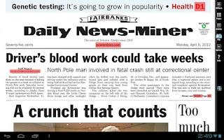 Screenshot of Fairbanks Daily News-Miner