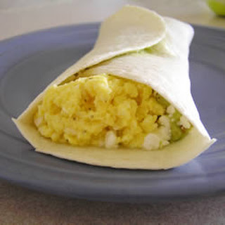 Easy Egg and Avocado Breakfast Burrito