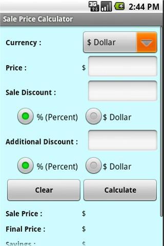 Sale Price Calculator