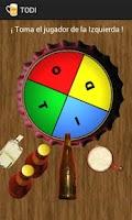 Screenshot of TODI, the drinking game