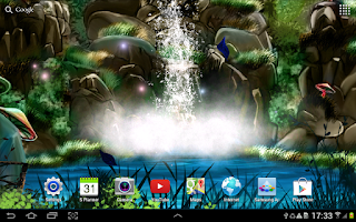 Screenshot of 3D Waterfall Live Wallpaper
