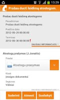Screenshot of DocLogix mobili darbo vieta