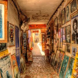 Mogador's street by Tariq Ouhti - City,  Street & Park  Street Scenes ( love, jimmy hendrix, hdr, essaouira, street, high dynamic range, morocco, bob marley, nikon d90, maroc )