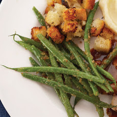 Green Beans with Shallots and Breadcrumbs