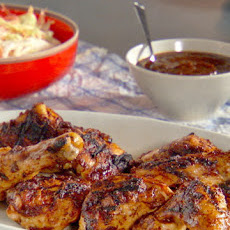 Grilled Chicken with Figgy Barbecue Sauce