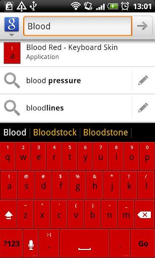 Blood Red - HD Keyboard Theme