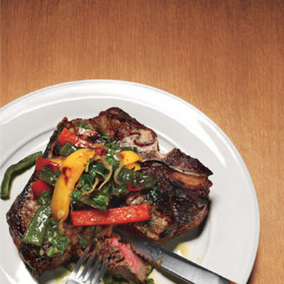 Caveman Porterhouse with Poblano Pan-Fry
