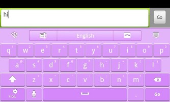 Screenshot of Purple GO Keyboard Theme