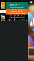 Screenshot of Birthday Countdown Widget