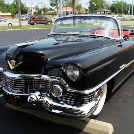 1954 Eldorado ( Cadillac )  5 by Yvonne Collins - Transportation Automobiles ( photography     city     street     1954 eldorado     cadillac     oley's pizza, Urban, City, Lifestyle )