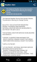 Screenshot of OCFL Alert