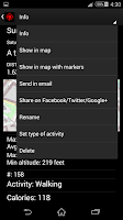 Screenshot of GPS Distance Location Tracker