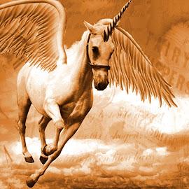 Unicorn Fairytales by Karen Phil Griggs - Digital Art Things ( unicorn, fairytale,  )