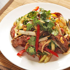 Steak Salad with Cucumber, Peppers, and Spicy Fish Sauce Vinaigrette
