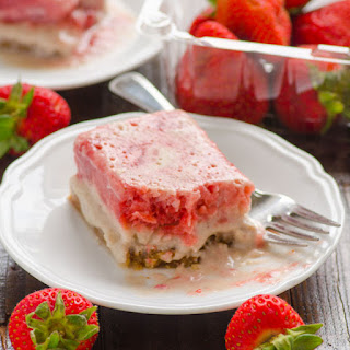 Light Strawberry Shortcake Ice Cream Bars
