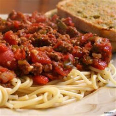 Beautiful Beef, Sausage And Vegetable Pasta Sauce