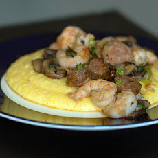 Grits With Greens and Shrimp