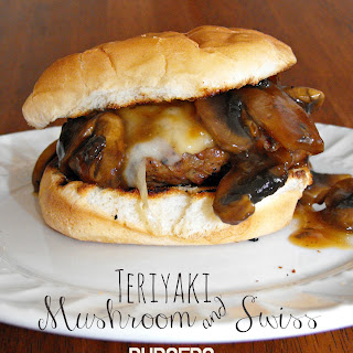 Easy Teriyaki Mushroom and Swiss Burgers