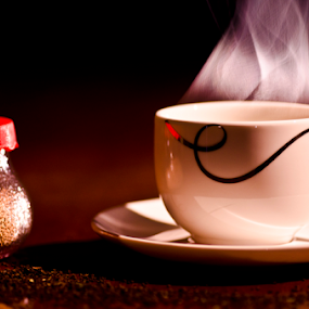 by Dibyendu Banik - Food & Drink Alcohol & Drinks ( cup, tea cup, tea, smoke, steam )