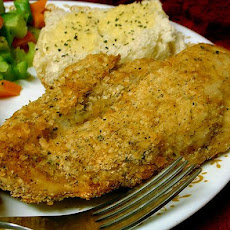 Golden Potato Coated Baked Chicken