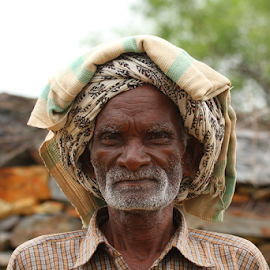 A Goat Guy by Vijendra Parmar - People Portraits of Men ( old, village man, street candids, old man, old villager )