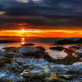 Sunset, Norway by Jan Helge - Landscapes Sunsets & Sunrises ( sunset, summer, sea, kristiansund, norway,  )