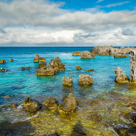 Tobacco Bay - Bermuda by Edward Clynes - Landscapes Travel ( atlantic ocean, getaway, grotto bay, resort, rock formation, bermuda, travel, paradise )