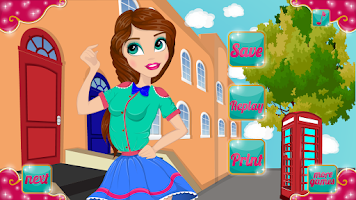 Screenshot of British Fashionista Makeover
