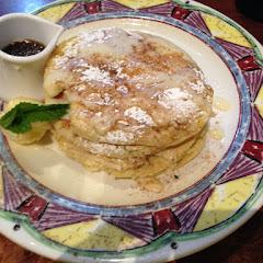 GF cinnamon roll pancakes