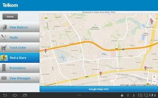 Screenshot of Telkom