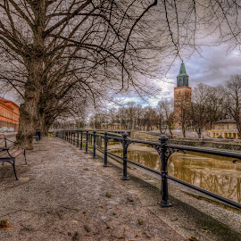 Along the Aura by Bojan Bilas - City,  Street & Park  City Parks ( hdr, park, finland, turku, river, city,  )