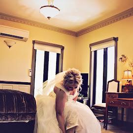 Wedding Shoes by Alan Evans - Wedding Getting Ready ( wedding photography, wedding shoes, wedding day, wedding, aj photography, tattoo, bride )