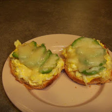Avocado & Egg Salad Open Faced Sandwich