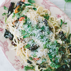 Winter Herb Pasta with Roasted Vegetables