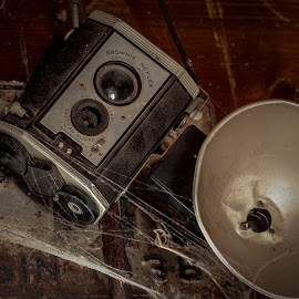 Where were you? by William Boyea - Artistic Objects Antiques ( technology, cobweb, industrial, camera, kodak )