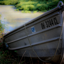 Dream of lazy day fishing by Susan M - Novices Only Objects & Still Life ( boating, studebaker, fishing, boat, pond )